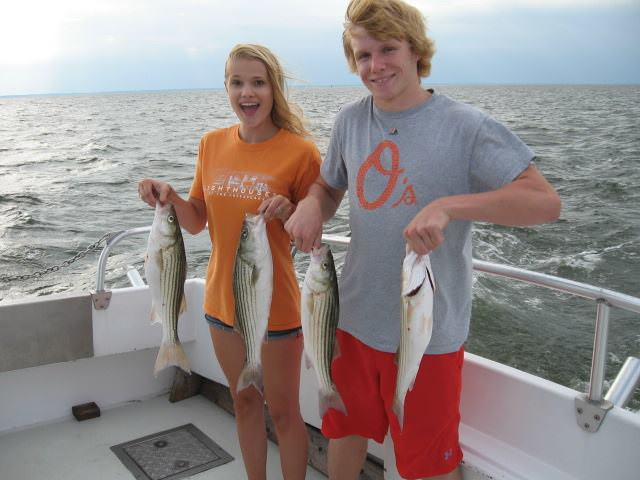 More Rockfish On Maryland's Chesapeake Bay!