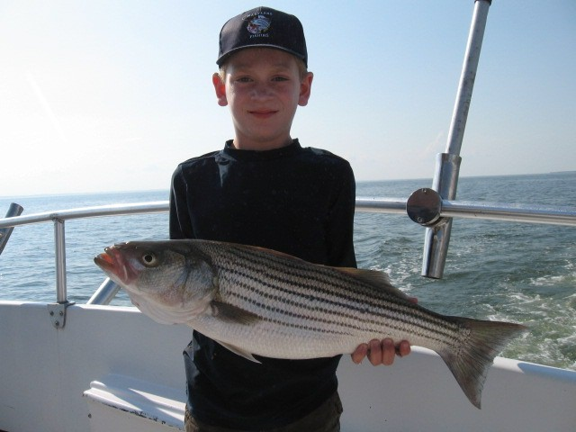 Fishing On The Chesapeake Bay For Rockfish!