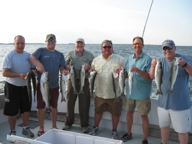 Chesapeake Bay Striped Bass Fishing From Maryland's Eastern Shore!