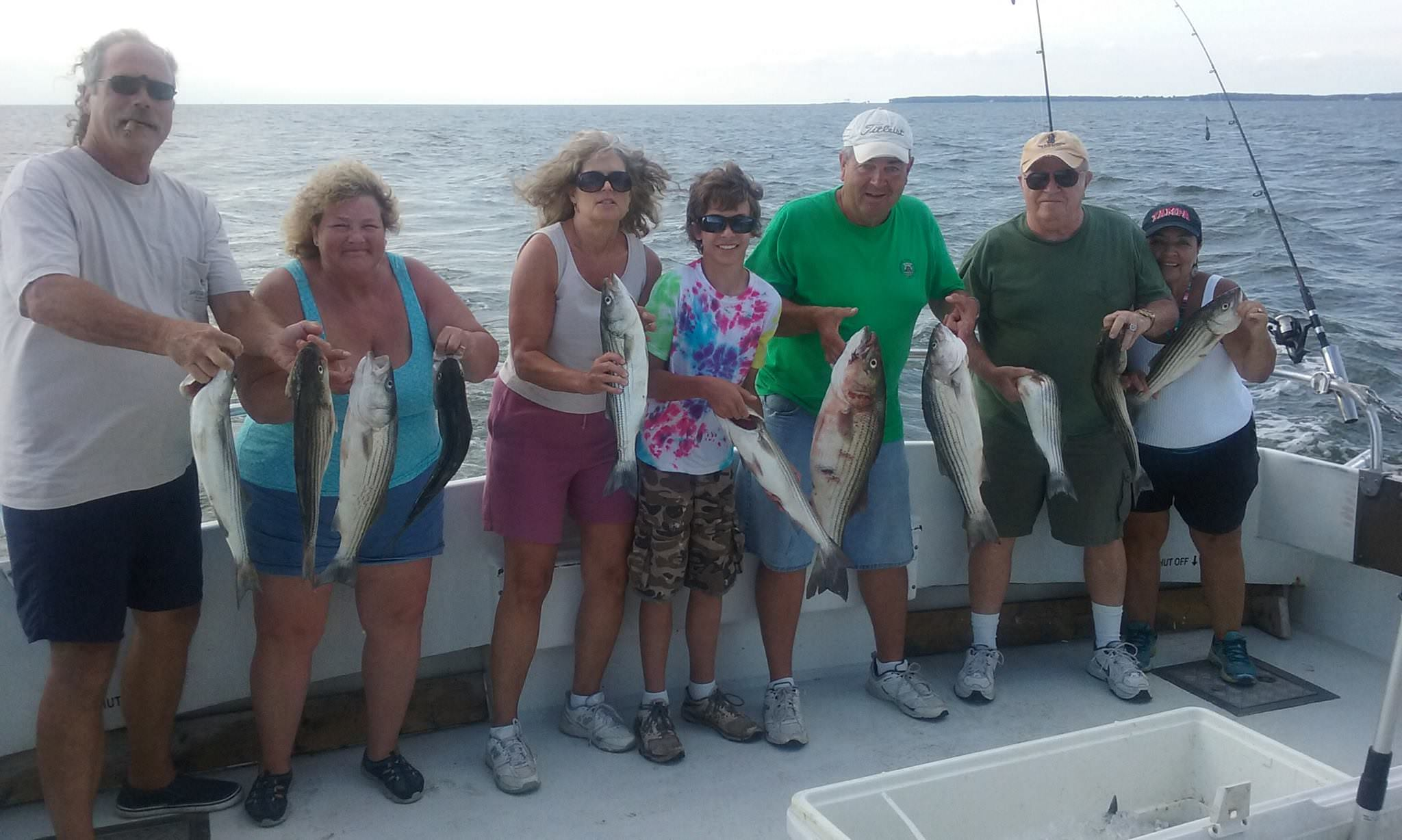 Chumming For Striped Bass On The Chesapeake Bay! Sawyer Chesapeake Bay Fishing Charters