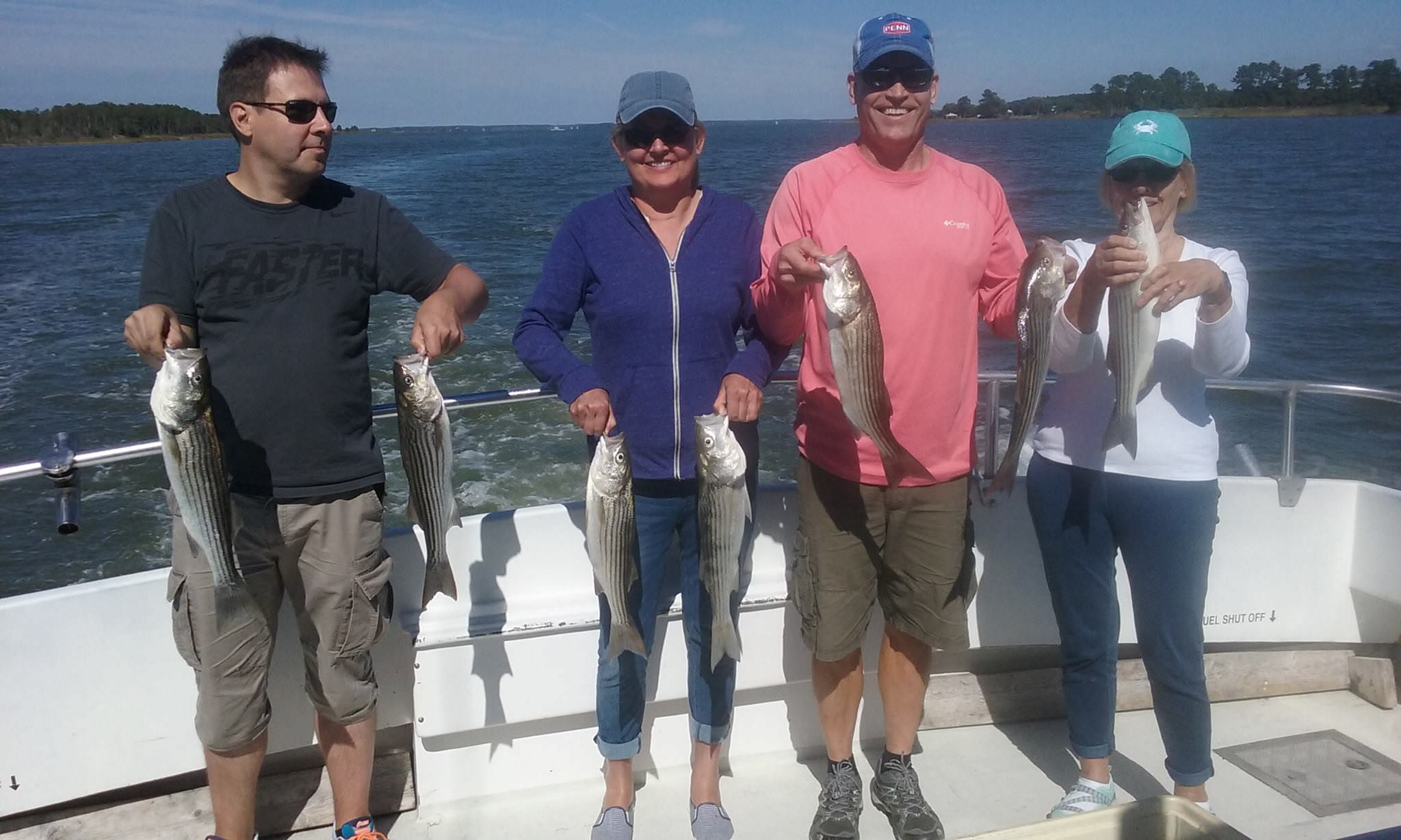 Chesapeake Bay Charter Fishing For Chesapeake Bay Rockfish, Maryland Striped Bass!