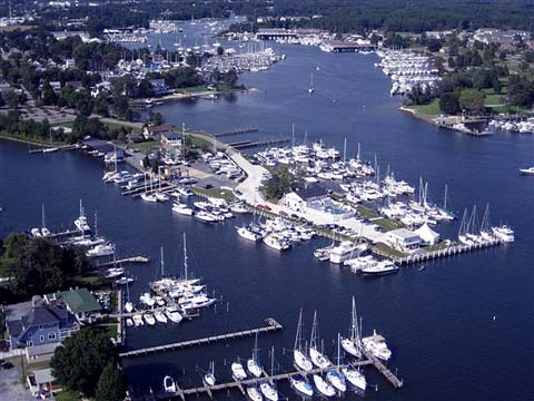 Aerial View of Solomons Island